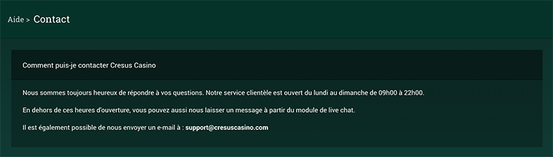 cresus-casino-support