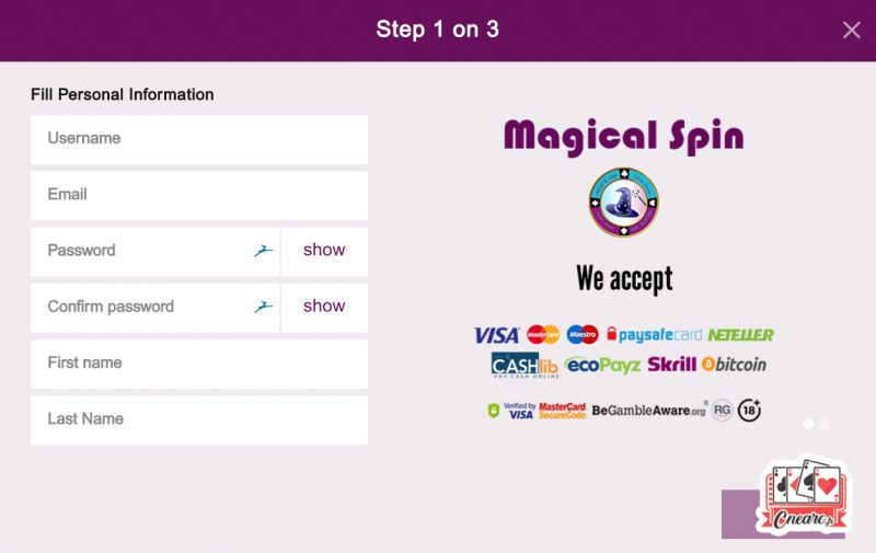 magical spin casino inscriptions