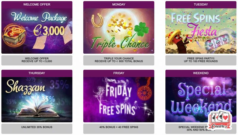 magical spin casino promotions