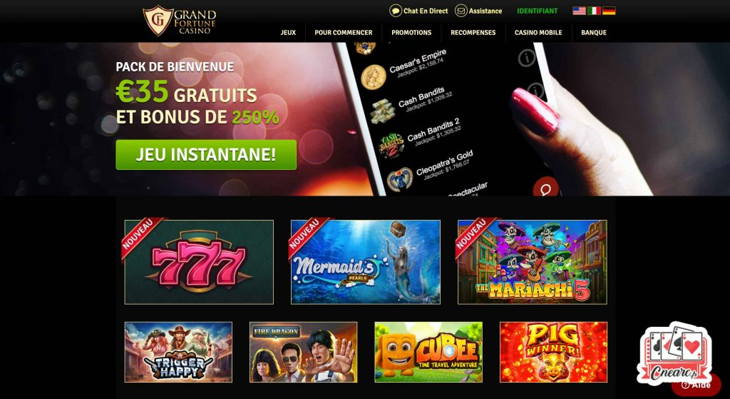 grand fortune casino accueil